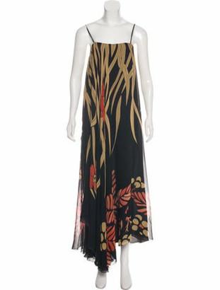 Chloé Silk Printed Dress Black