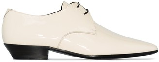 Saint Laurent Jonas pointed-toe derby shoes