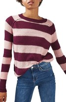 Topshop Women's Gauzy Stripe Sweater