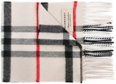 Burberry Exploded Check scarf - kids - Cashmere - One Size