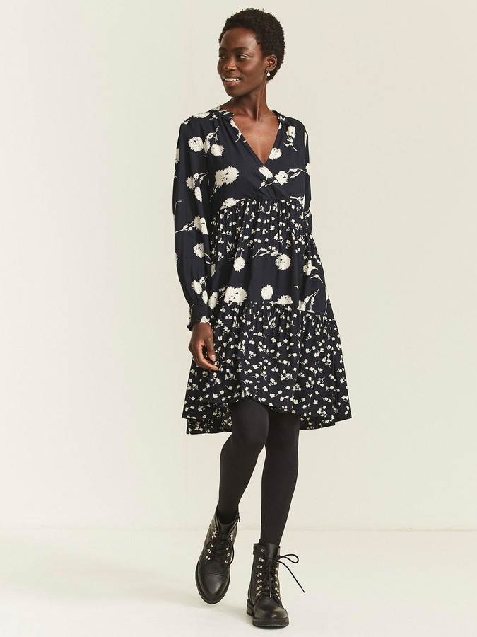 Thumbnail for your product : Fat Face Fatface Lexi Poppy Meadow Dress - Black