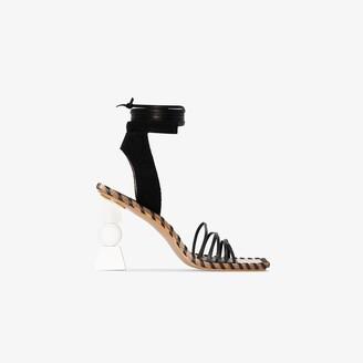 Jacquemus Black Les Sandales Valerie Hautes 105 leather sandals