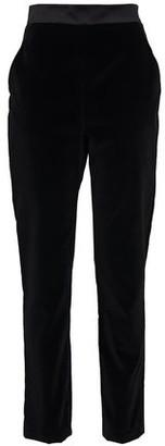 David Koma Satin-trimmed Velvet Slim-leg Pants