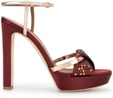 Malone Souliers Lauren crystal-embellished platform sandals
