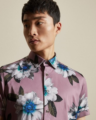 Ted Baker BUTWHY Short sleeved floral print cotton shirt
