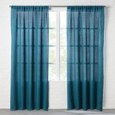 CB2 Linen Teal Curtain Panel