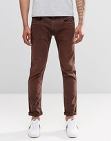 Replay Anbass Slim Jeans In Red Mahogany