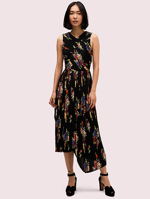 Kate Spade Rare Roses Pleated Dress