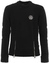 Philipp Plein Zip Unzipped Merino Sweater