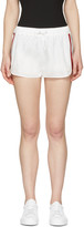 Moncler Gamme Rouge White Striped Web Shorts