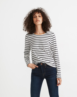 Madewell Northside Long-Sleeve Vintage Tee in Etta Stripe
