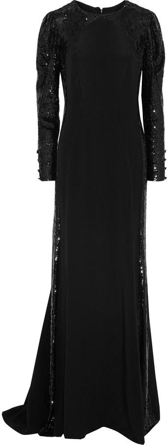 Carolina Herrera Sequin-embellished Silk Gown