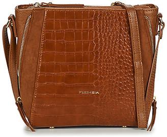 Fuchsia F9922 women's Shoulder Bag in Beige