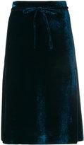 L'Autre Chose knee-length velvet skirt