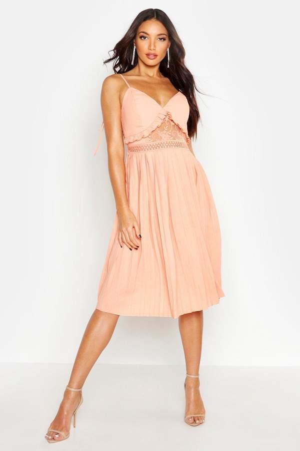 a91f15fd3518 boohoo Orange Skater Dresses - ShopStyle