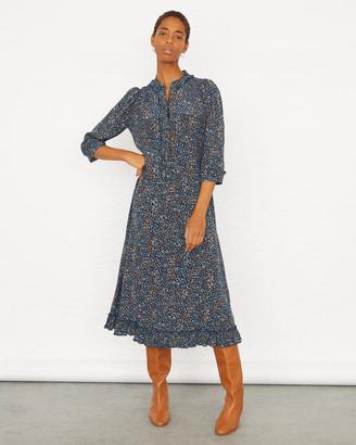 Jigsaw Leopard Print Ruffle Shirt Dress