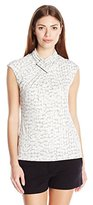 Calvin Klein Women's Sleeveless Top with Ruching At Neck