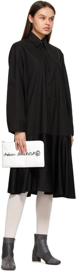 Thumbnail for your product : MM6 MAISON MARGIELA Black Cotton & Viscose Combo Dress