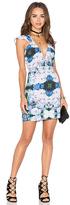 NBD x Naven Twins Flutter Sleeve Romance Bodycon Dress