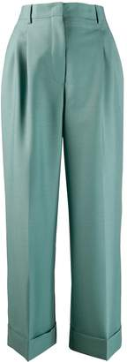 Fendi flared tailored cropped trousers