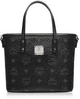 MCM Mini Black Eco Leather Top Zip Shopping Bag