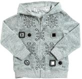 Little Marc Jacobs Hooded Cotton Chenille Sweatshirt