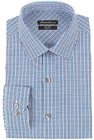 Kenneth Cole New York Non-Iron Slim-Fit Spread-Collar Plaid Dress Shirt
