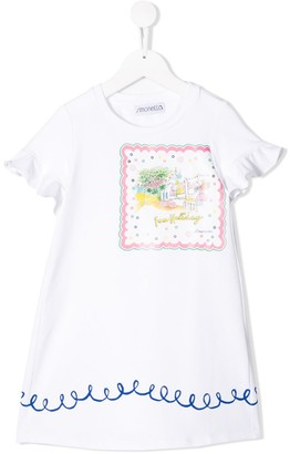 Simonetta Frilled Casual Dress