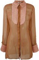Valentino semi sheer blouse - women - Silk/Cotton/Polyamide - 40