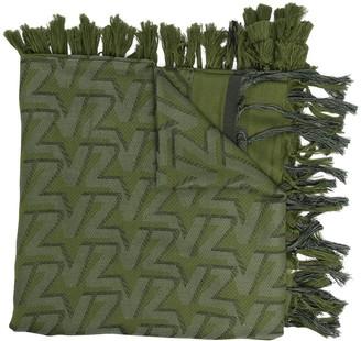 Zadig & Voltaire Babel logo-print tassel scarf