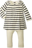 Petit Bateau Striped Dress With Leggings (Baby) - Navy White - 18-24 Months