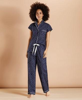 Brooks Brothers Heart-Print Supima Cotton Poplin Pajamas