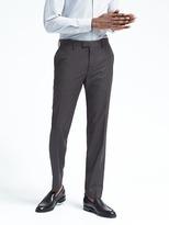 Banana Republic Standard Black Check Performance Wool Pant