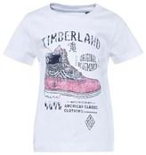 Timberland White Branded Shoe Print Tee