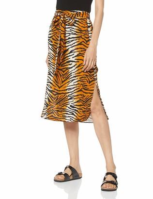Dorothy Perkins Women's Tiger Prnt Waist Mid Skirt