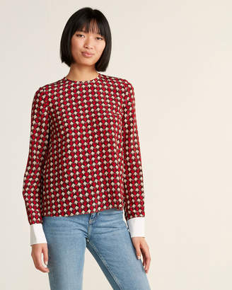 Marni Shell Print Silk Blouse