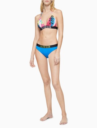 Calvin Klein Intense Power Printed Triangle Bikini Top