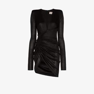 Alexandre Vauthier Sparkle V-neck mini dress