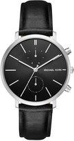 Michael Kors Men's Chronograph Jaryn Black Leather Strap Watch 42mm MK8539