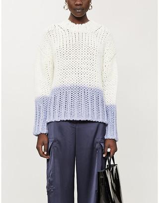 Acne Studios Dip-dyed stretch-knit jumper