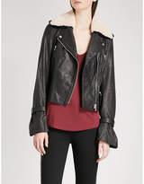 Paige Rhoda leather biker jacket