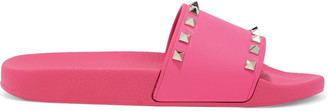 Valentino Rockstud Rubber Slides