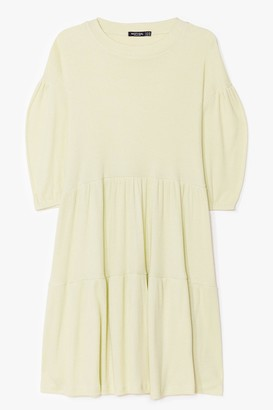 Nasty Gal Womens A Smock to Handle Plus Mini Dress - Green - 16, Green