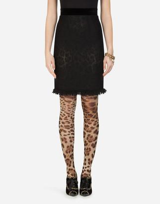 Dolce & Gabbana Boucle Midi Skirt