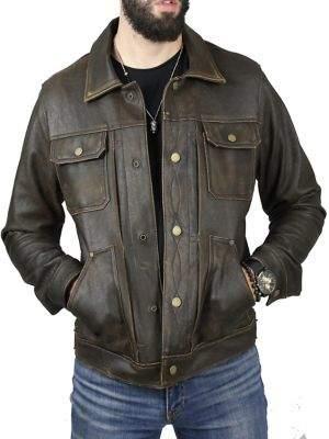 Frye Leather Trucker Jacket