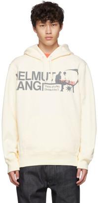 Helmut Lang Off-White Logo Standard Hoodie
