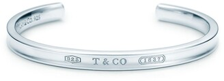 Tiffany & Co. 1837TM narrow cuff in sterling silver, medium