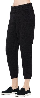 UGG Valentene Fluffy Knit Joggers - Black, Extra Small