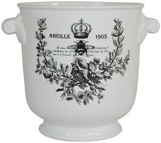 "8"" Abeille 1905 Planter - White/Black - The French Bee"