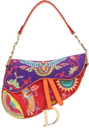 Christian Dior pre-owned floral Saddle shoulder bag